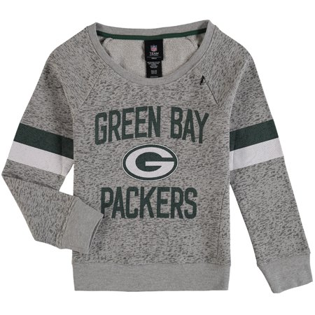 d81f3261778 Green Bay Packers Girls Youth My City Boat Neck Pullover Sweatshirt - Gray  - Walmart.com