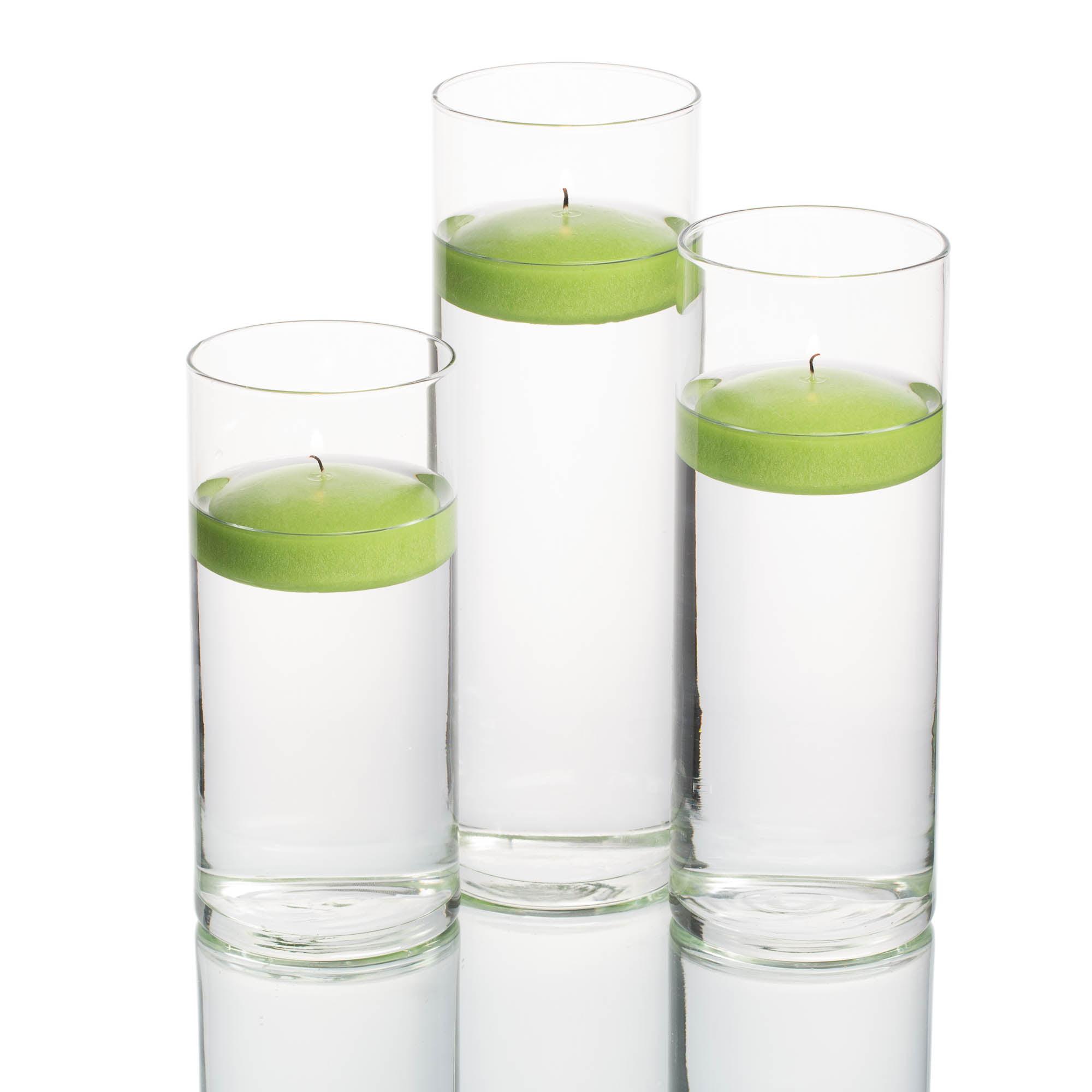 Richland Floating Candles & Eastland Cylinder Holders White Set of 3
