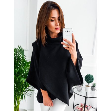 Long Sleeve Blouse Tops for Women, Funnel Neck Pullover Tops for Woman, Women's Black / Gray Gift Solid Color Tunic Tops for