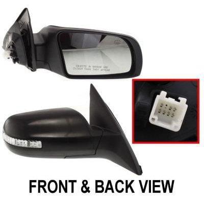 kool vue ns51er-s mirror corner mount type passenger side rh plastic primered power manual folding heated