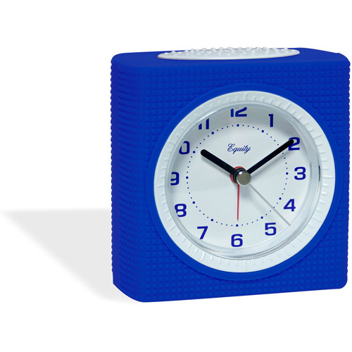 Equity Silent Sweep Analog Alarm Clock, Blue