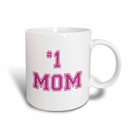 3dRose #1 Mom - Number One Mom in hot pink large print ... |Number One Cup Mom