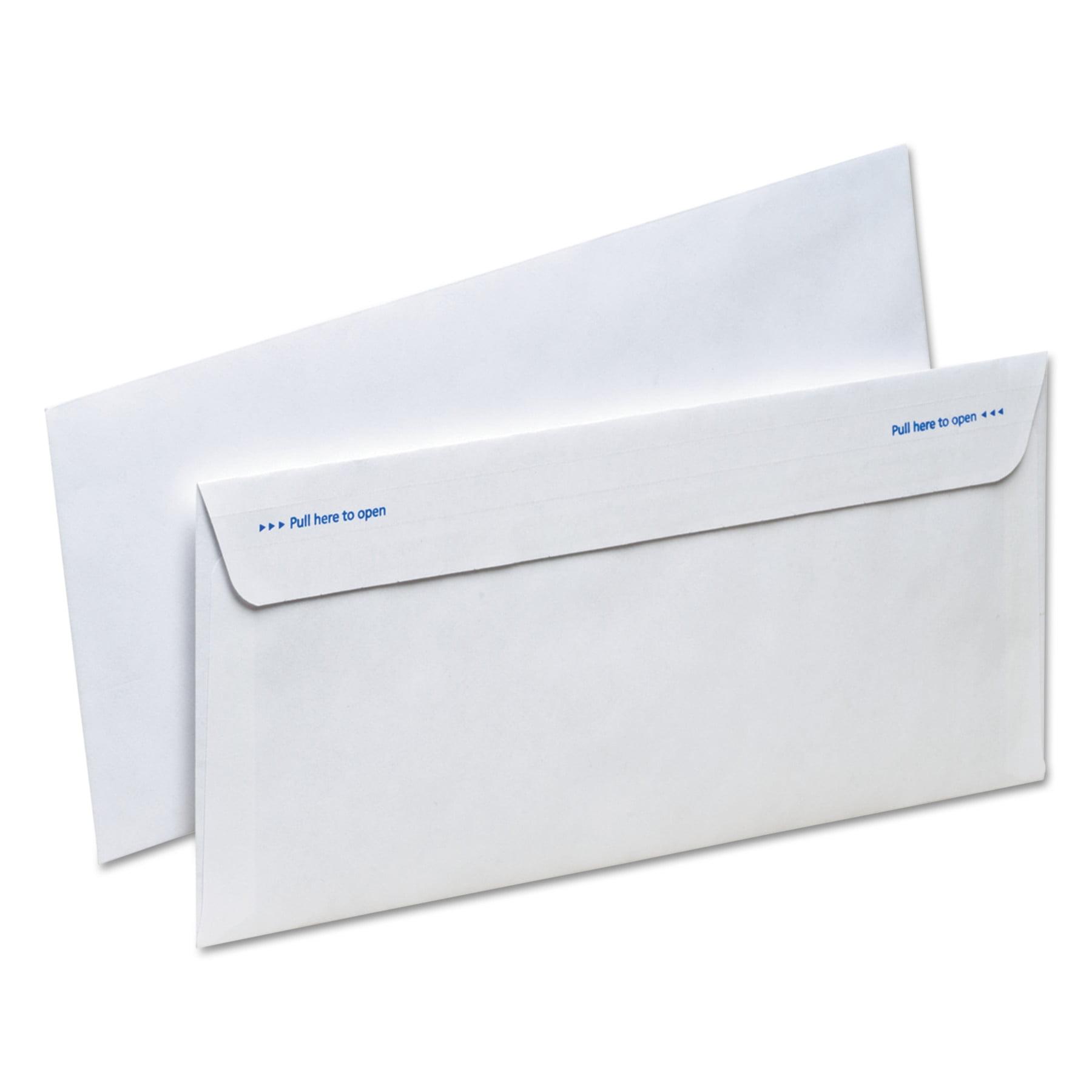Ampad Gold Fibre Fastrip Release & Seal Envelope, #10, 4 1/8 x 9 1/2, White, 100/Box