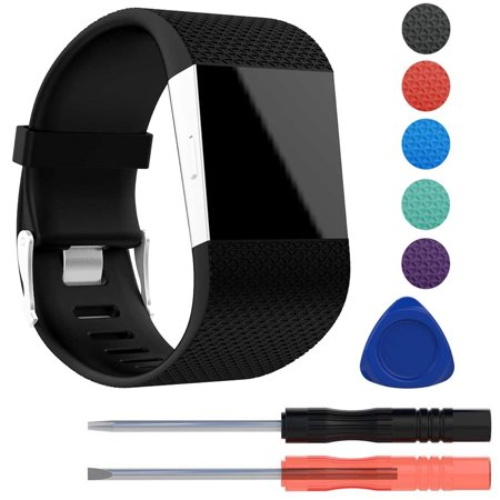replacement silicone band wrist strap bracelet w/tool kit for fitbit surge