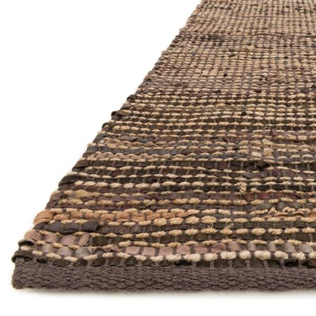 Alexander Home Hand Woven Arrow Earth Tone Leather And