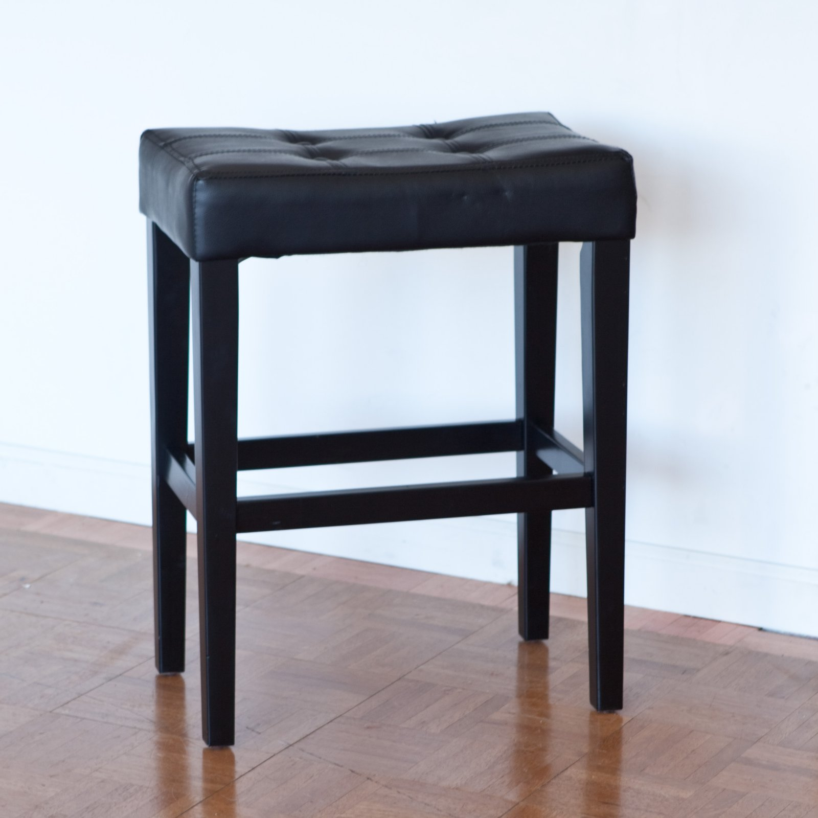 Palazzo 26 Inch Saddle Counter Stool Black Walmart Com
