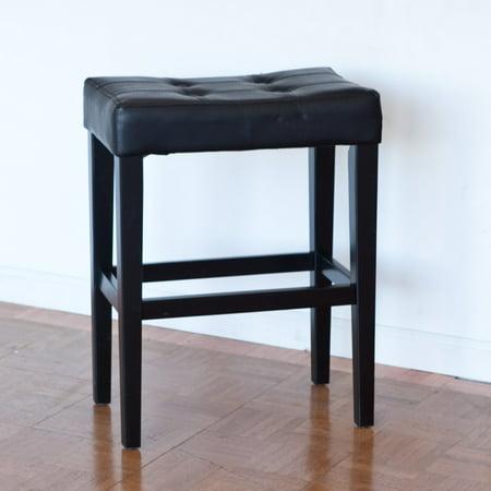 palazzo 26 inch saddle counter stool black. Black Bedroom Furniture Sets. Home Design Ideas