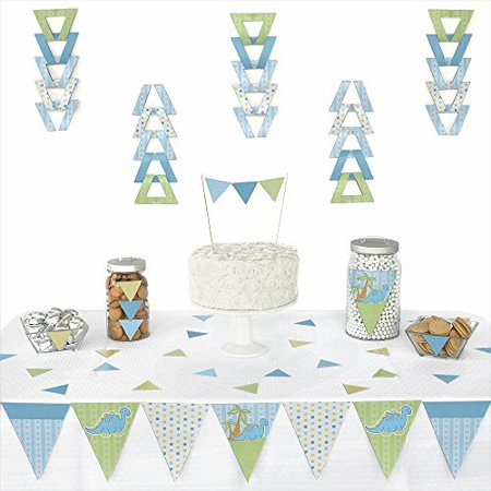 Baby Boy Dinosaur - Triangle Party Decoration Kit - 72 - Dinos Party Center