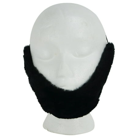 Fake Black Facial Hair Farmer/Lincoln Beard Adult Halloween Costume Theatre Prop (Fake Contact Lenses For Halloween Uk)