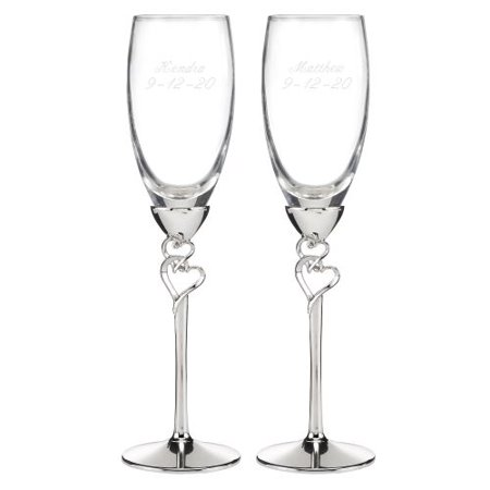 HBH Wedding Entwined Hearts Flutes - Personalized