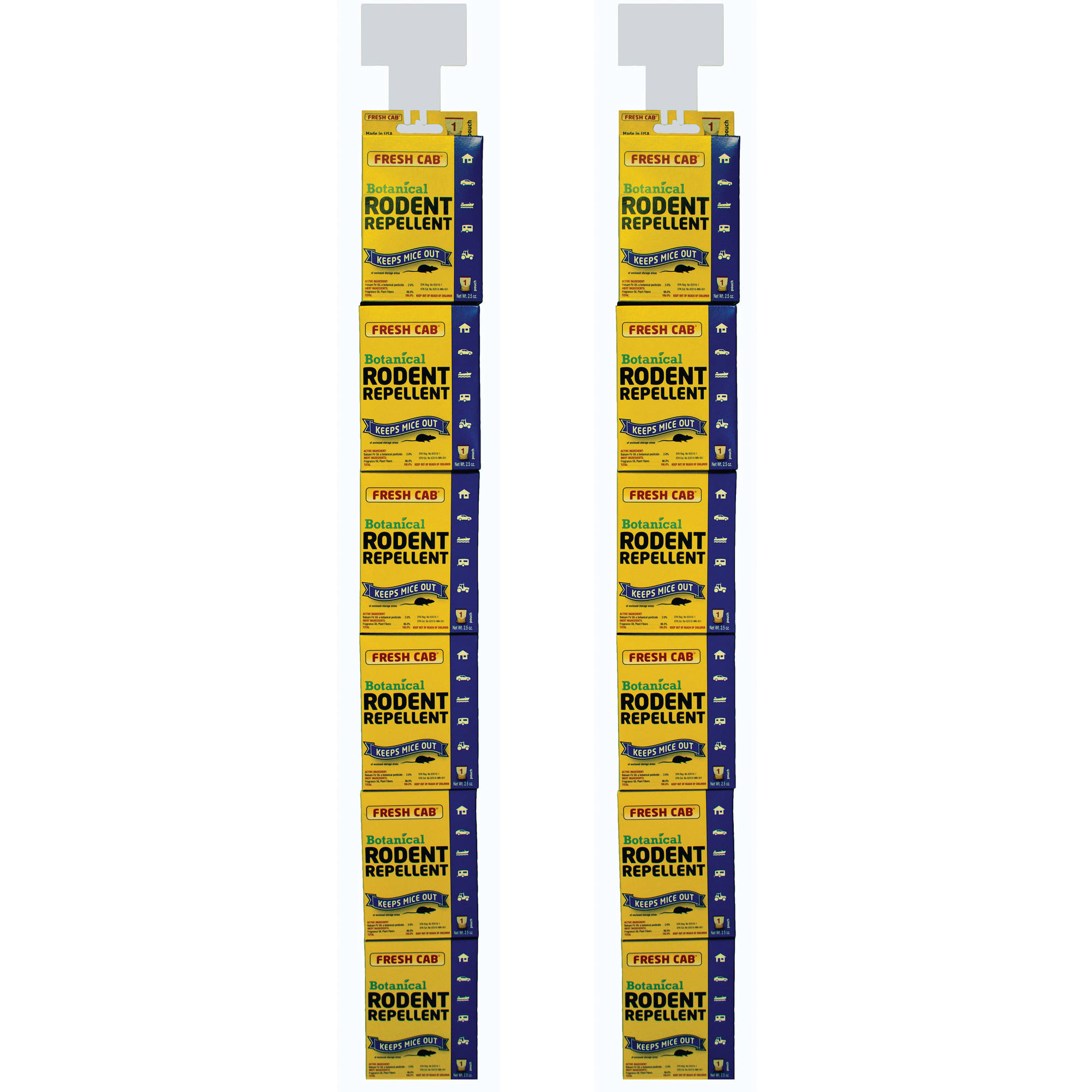 AP Products 020-129 Fresh Cab Rodent Repellent, TWo 6-Pouch Stick Strips