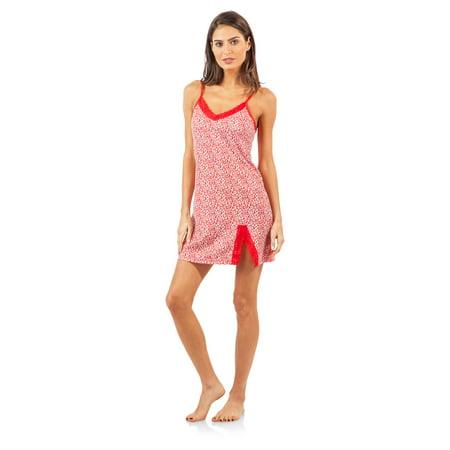 1c923c50d80af Casual Nights - Casual Nights Women s Sleepwear Lace Trim Slip Camisole  Nightie - Walmart.com