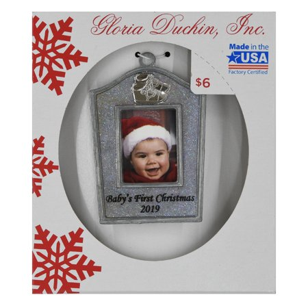 Silver Photo Ornament (Gloria Duchin Babys First Photo Ornament)