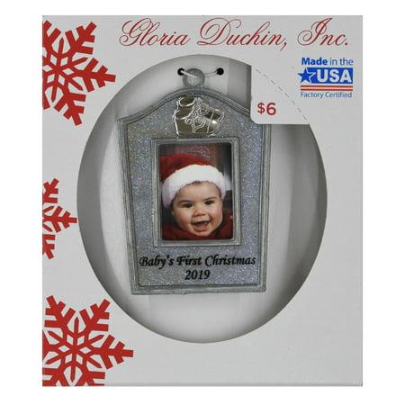 Gloria Duchin Babys First Photo Ornament - Baby Handprint Ornament