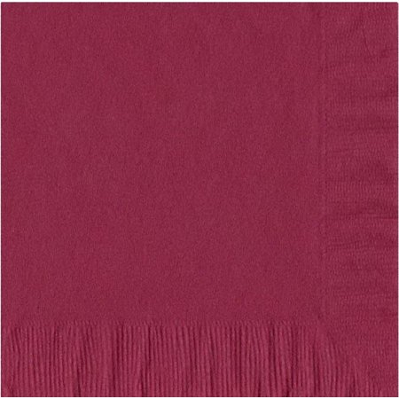 50 Plain Solid Colors Luncheon Dinner Napkins Paper - Burgundy ()