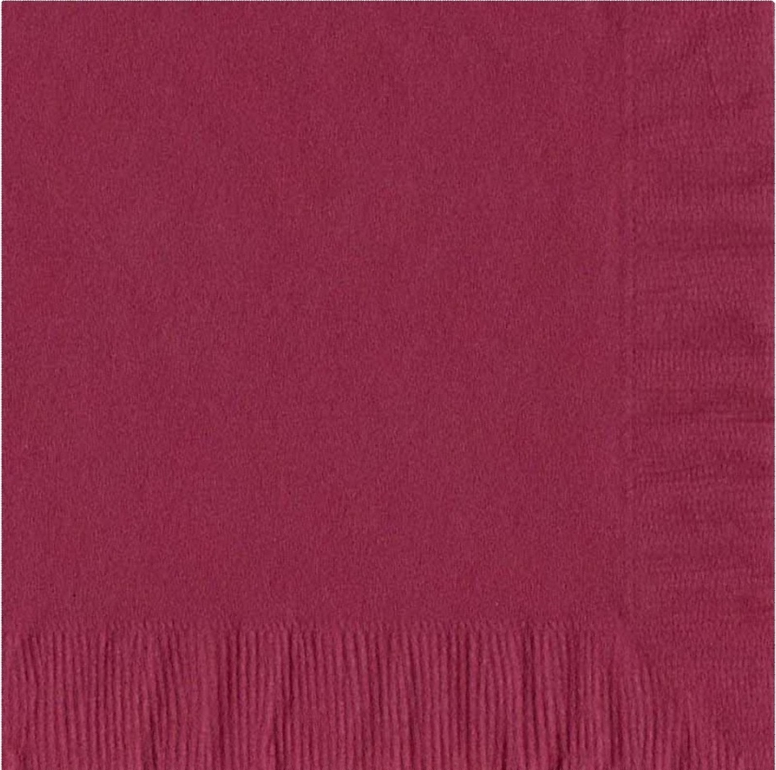 50 Plain Solid Colors Luncheon Dinner Napkins Paper - Burgundy