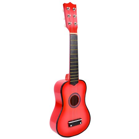 Small Guitar (21 Inch Acoustic Guitar Small Size Portable Wooden Guitar for Children Kids Beginners)