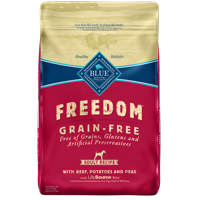 Blue Buffalo Freedom Grain Free Natural Adult Dry Dog Food, Beef, 24-lb