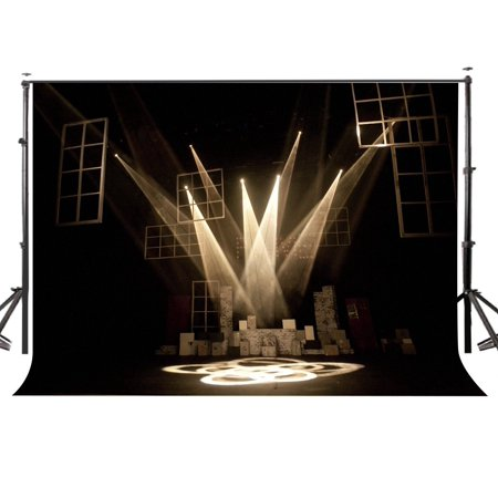 GreenDecor Polyster 7x5ft Rock Music Style Stage Photography Backdrop Photo Background Studio Prop ()