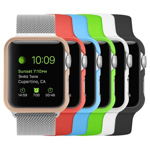 [6 Color Pack] Apple Watch 42 mm Case, Fintie [Ultra-Slim] Premium Polycarbonate Hard Protective Bumper Cover