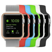 [6 Color Pack] Fintie Case for Apple Watch 42 mm, [Ultra-Slim] Premium Polycarbonate Hard Protective Bumper Cover