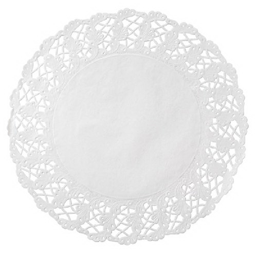 """Hoffmaster Round Kenmore Lace Doily White, 14.5"""" Diameter..."""