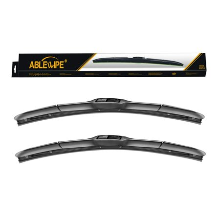 ABLEWIPE Windshield wiper blades J Hook Hybrid Bracketless blades fit Toyota FJ Cruiser 2006-2018 J-Hook Front Window Blade NO. 19220 (set of