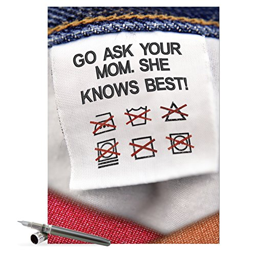 """J7318 Jumbo Humorous Mother's Day Greeting Card: 'mother knows best' with Envelope (Extra Large Size: 8.5"""" x 11"""")"""