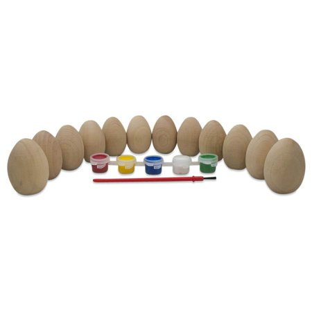 Paint your Own Set of 12 Blank Unfinished Wooden Eggs 2 Inches