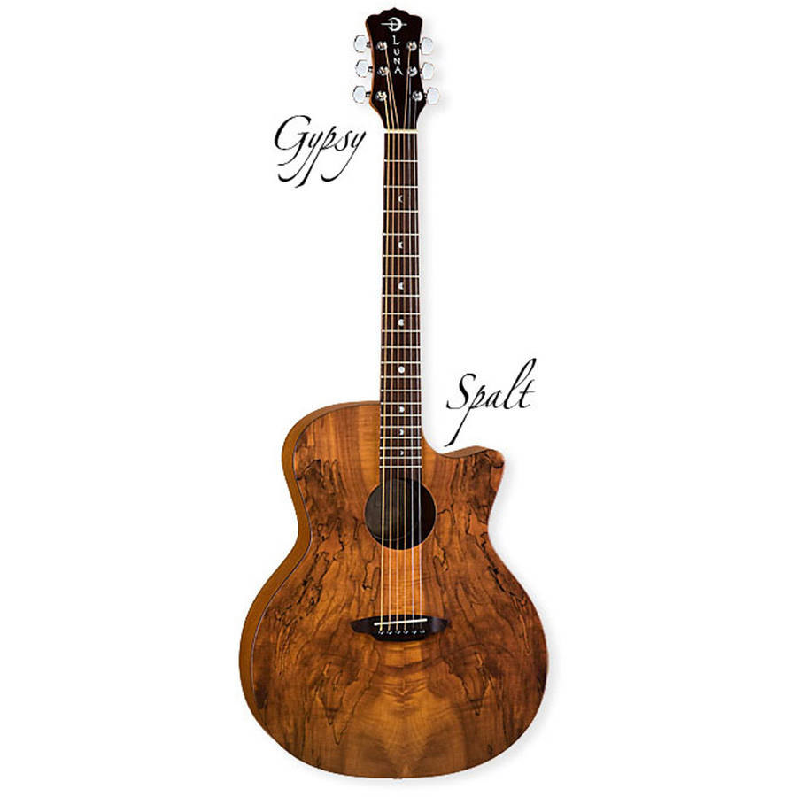 Luna Gypsy Spalt Spruce Top Grand Auditorium Acoustic Guitar