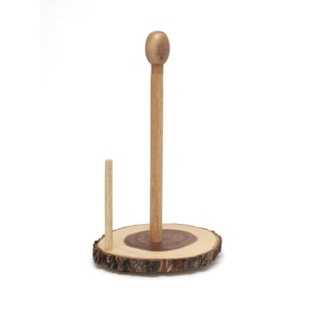 Lipper Acacia Standing Towel Holder With Slab Bark ()