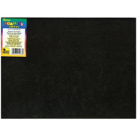 """Foam Sheet 9""""X12"""" 2mm-Black"""