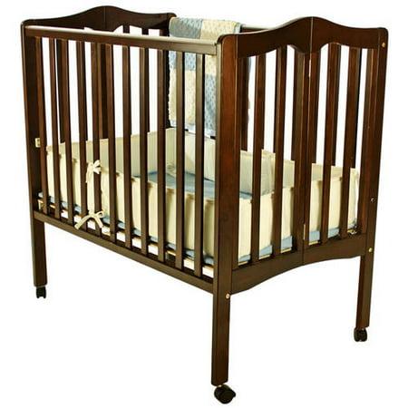 Dream On Me 2-in-1 Lightweight Portable Folding Crib, Espresso