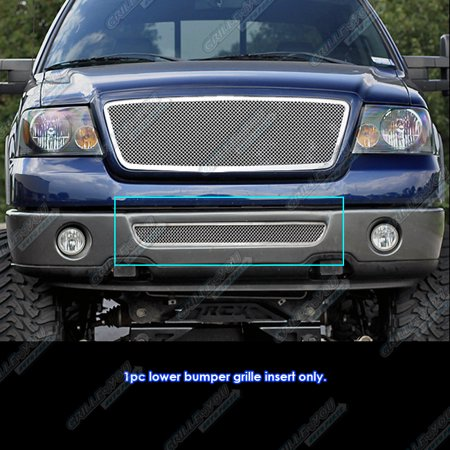 Compatible with 06-08 Ford F-150 Stainless Steel Mesh Grille Grill Insert F75352T (150 Mesh Stainless Steel)