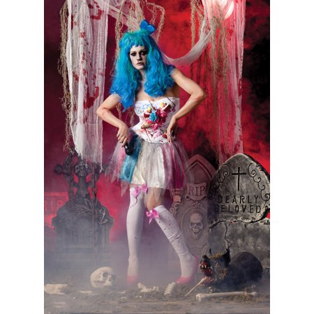 Zombie Candy Girl Katy Perry Undead Fancy Womens Gothic Halloween Costume - Katie Perry Costume