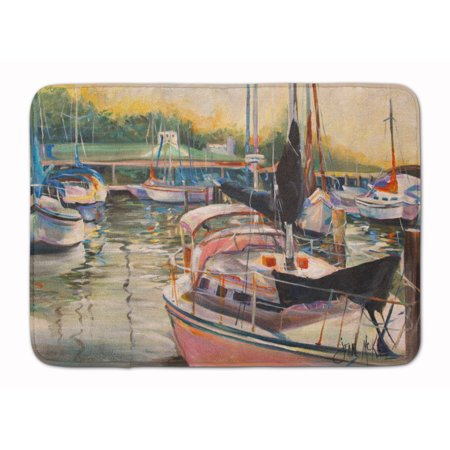 Black Sails Sailboat Machine Washable Memory Foam Mat