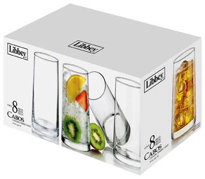 LIBBEY GLASS Cabos Beverage Glassware Set, 16-oz., 8-Pc. by LIBBEY GLASS