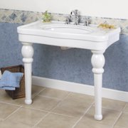 Barclay Versailles Ceramic 36'' Console Bathroom Sink with Overflow