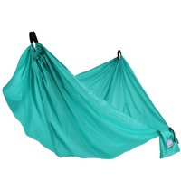 "Equip Recycled Nylon Portable Camping Travel Hammock, 1 Person Aqua Green, Hammock Open Size 108"" L x 56"" W"