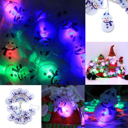 Home Snowman (DZT1968 Christmas Snowman 3.0m 16 LED Lights Party Home Decor Outdoor Indoor Xmas Lamp )