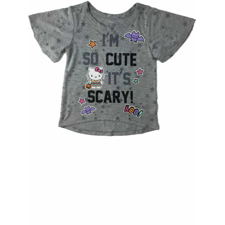 Infant Toddler Girls Hello Kitty Kitten Cat So Cute Halloween Tee Shirt