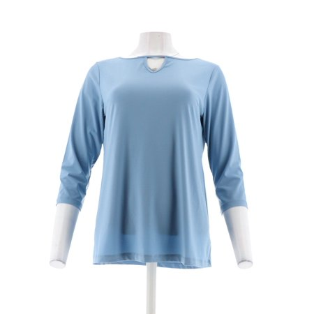 Joan Rivers Jersey Knit Tunic Keyhole Neckline A302756