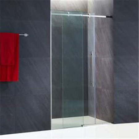 Vigo Industries Vg6043stcl6074 Luca 60 In  Frameless Shower Door With Clear Glass And Stainless Steel Hardware