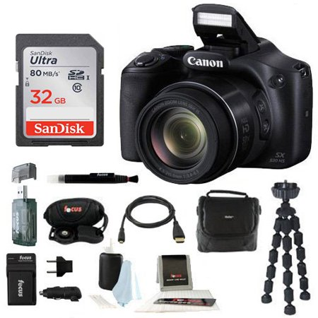 (Canon Powershot SX530 HS Camera with 32GB Deluxe Accessory Kit)