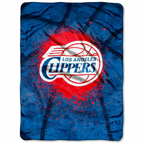 LA Clippers 60'' x 80'' Shadow Play Raschel Blanket - Royal Blue - No Size