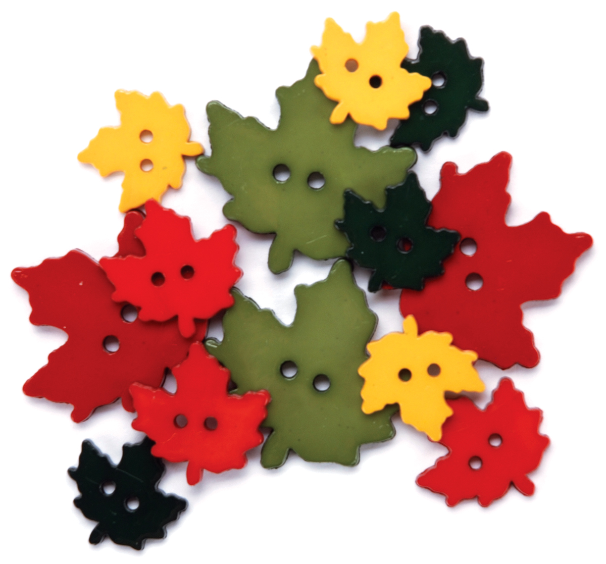 Blumenthal Lansing Favorite Findings Buttons, Falling Leaves, 12/Pkg Multi-Colored