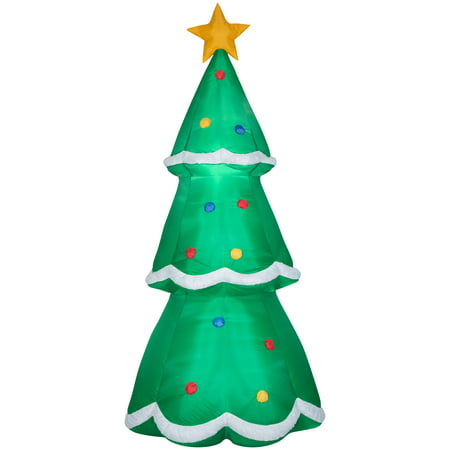 Holiday Time Yard Inflatables Christmas Tree, 10 ft ()