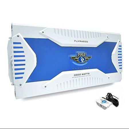 Pyle Hydra Plmra820 Marine Amplifier - 8 Channel - Class Ab - Bridgeable - Mosfet Power Supply - 6, 2 X 100 W, 250 W @ 4 Ohm - 6, 1 X 175 W, 400 W @ 2 Ohm (plmra820)