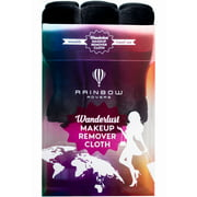 ($32 Value) RAINBOW ROVERS Makeup Remover Cloths   Reusable & Ultra-fine Makeup Towels   Suitable for All Skin Types   Removes Makeup with Just Water   Bonus Waterproof Bag   Set of 3   Chic Black
