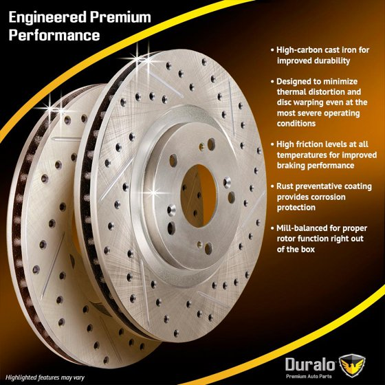 Drilled Slotted Front Brake Rotors For VW CC GTI & Audi S3 340mm